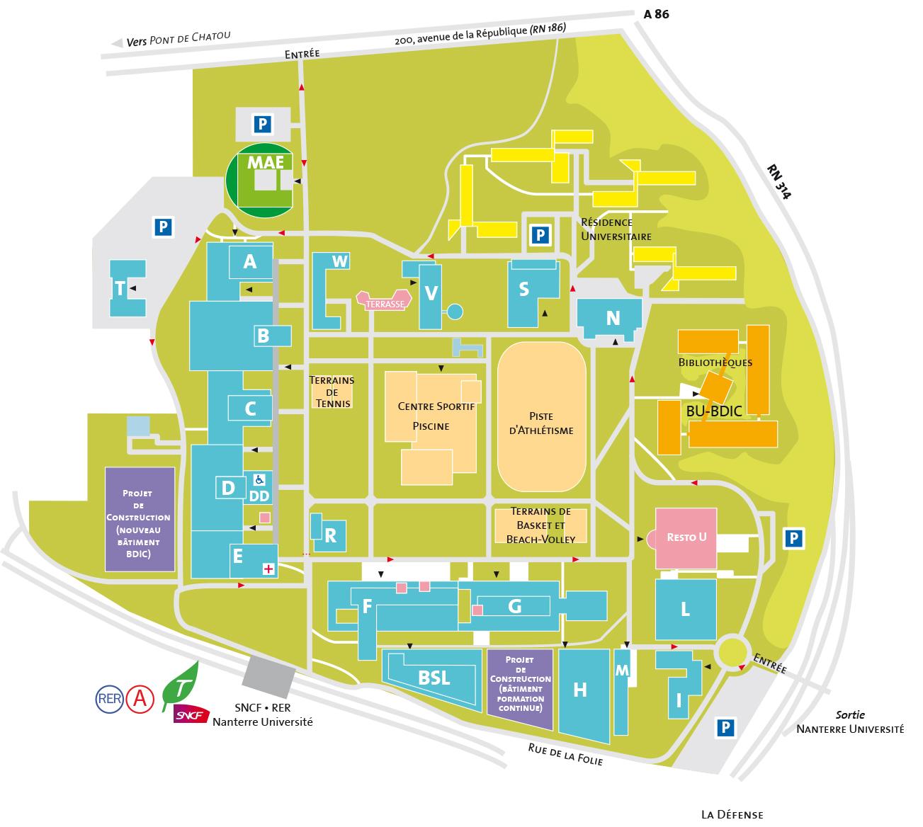 Plan de l'Université